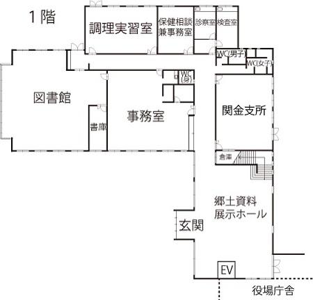 関金庁舎1階
